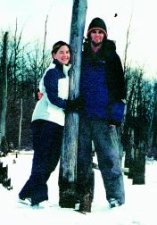 Jason and Lindsay ice skating in Michigan.